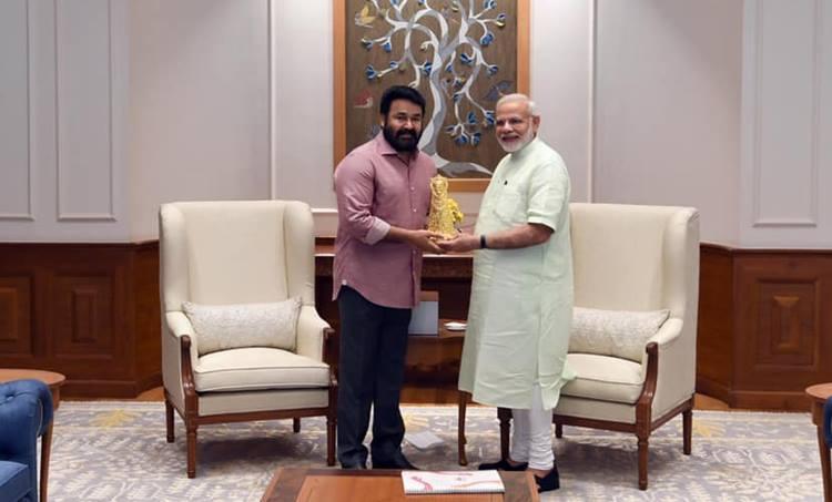 Narendra Modi and Mohanlal Narendra Modi 69th Birthday