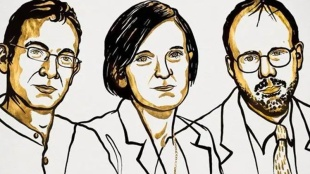 nobel prize, നോബേൽ, nobel prize for economics, സാമ്പത്തിക ശാസ്ത്രം, Abhijit Banerjee, അഭിജിത്ത് ബാനർജി, Esther Duflo and Michael Kremer, nobel prize economics winner, nobel, ie malayalam, ഐഇ മലയാളം