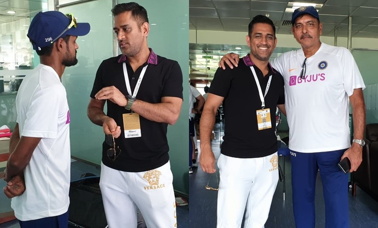 MS Dhoni, എംഎസ് ധോണി,MS Dhoni Ranchi,എംഎസ് ധോണി റാഞ്ചി, MS Dhoni Meets Indian team, ind vs sa, ind vs sa live score, india vs south africa, ind vs sa 2019, ind vs sa 3rd Test, ind vs sa 3rd test live score, ind vs sa 3rd test live cricket score, india vs south africa live score, india vs south africa Test live score, live cricket streaming, live streaming, live cricket online, cricket score, live score, live cricket score, india vs south africa Test, star sports 2 live, hotstar live cricket, india vs south africa Test live score, india vs south africa live streaming, India vs south africa 3rd Test live streaming