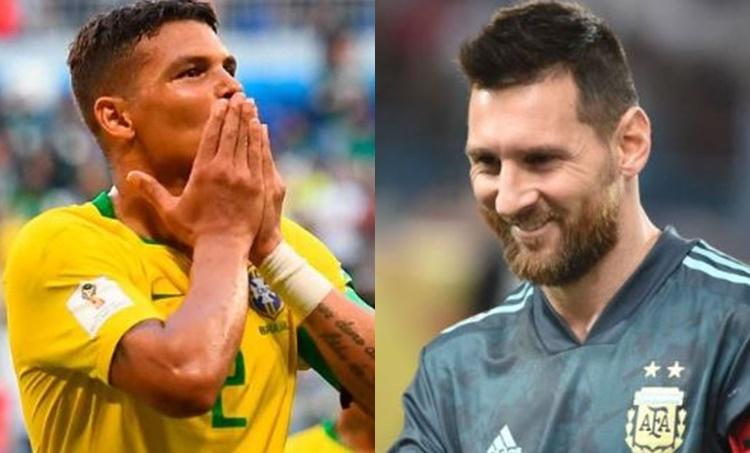 Messi Silva Argentina Brazil