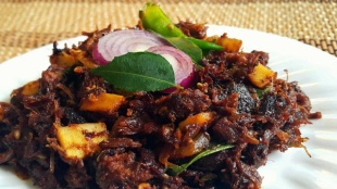 Beef ularthiyath, Kerala Style Beef Ularthiyath, Beef Fry, Beef dish, ബീഫ് ഉലർത്തിയത്, ബീഫ് ഒലത്തിയത്, beef dish, Indian express Malayalam, IE Malayalam, ഐ ഇ മലയാളം, ഇന്ത്യൻ എക്സ്പ്രസ് മലയാളം