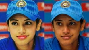 Smriti Mandhana, സ്മൃതി മന്ദാന, Smriti Mandhana photoshopped pic, സ്മൃതി മന്ദാനയുടെ ഫോട്ടോഷോപ്പ് ചിത്രം, Smriti Mandhana cricketer, Smriti Mandhana pictures, Smriti Mandhana make-up picture viral, iemalayalam, ഐഇ മലയാളം