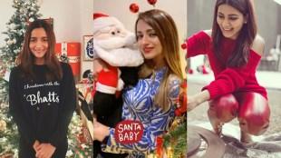 Celebrity Christmas photos, deepika padukone, kunchacko boban, Alia Bhatt, Poornima, Indrajith, Dileep, Ranveer Singh, Mamta Mohandas, Aju Varghese, Samantha, Trisha