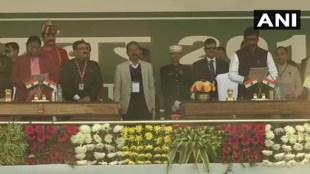 hemant soren, ജാർഖണ്ഡ്, jharkhand cm, ഹേമന്ത് സോറൻ, jharkhand cm hemant soren, jharkhand cm oath ceremony, hemant soren swearing ceremony, hemant soren swearing ceremony live, hemant soren swearing in ceremony, swearing ceremony, swearing ceremony of hemant soren, hemant soren oath ceremony live updates, hemant soren shapath grahan samaroh, shapath grahan samaroh