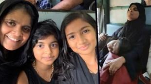 Sabarimala Pilgrim, ശബരിമല തീർഥാടക, Muslim woman, മുസ്ലീം സ്ത്രീ, burqa, ബുർഖ, പർദ്ദ, train, തീവണ്ടി, iemalayalam, ഐഇ മലയാളം