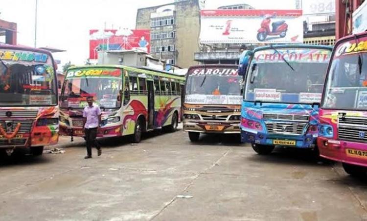 Bus Strike,Private Bus Strike,സ്വകാര്യ ബസ് സമരം, iemalayalam, ഐഇ മലയാളം
