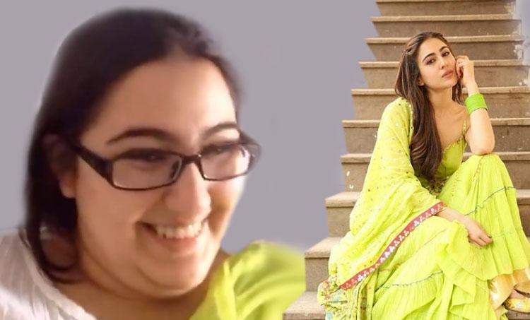 Sara Ali Khan, Sara Ali Khan transformation video, sara ali khan funny video