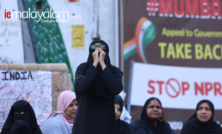 Mumbai shaheen Bagh, Mumbai protests, Shaheen Bagh, CAA protests, NRC, caa latest news, citizenship act. nrc protests, Indian Express