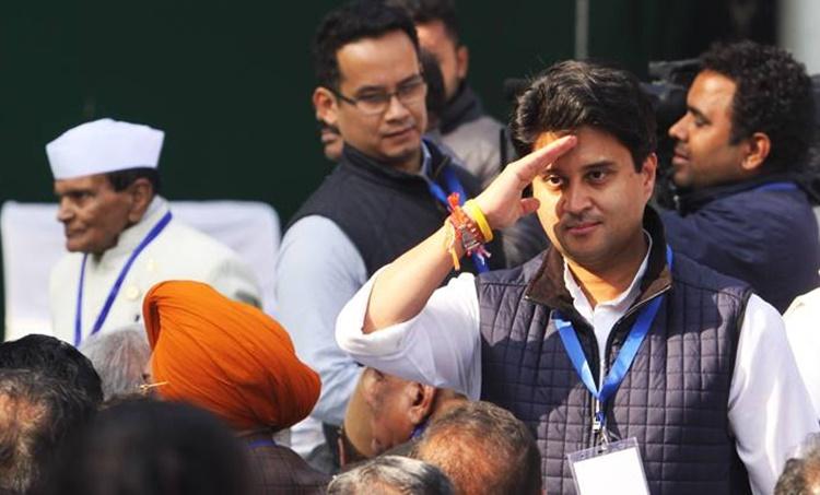 Madhya Pradesh, Indian family names, Jyotiraditya Scindia, Scindia, Political families of Madhya Pradesh, Jaipal Singh Jajji, Sonia Gandhi, Digvijaya Singh, minister, Former Union, Congress, Chief Minister, Rahul, Priyanka, Congress Working Committee, Bharatiya