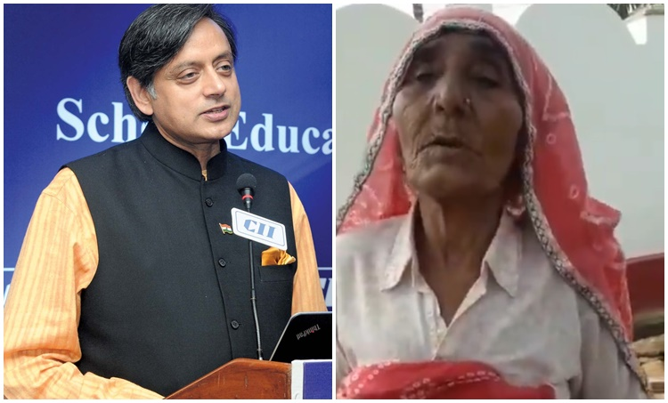 elderly lady english viral video, shashi tharoor, woman talking in english viral video, Mahatma Gandhi, trending, indian express, indian express news