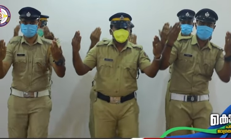 Corona awareness video made by Kerala Police