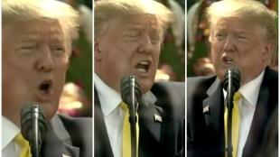 trump singing mappila pattu viral video
