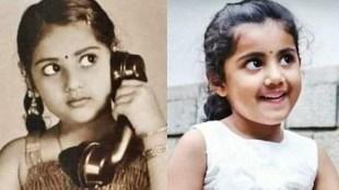 Meena, Meena daughter, Meena daughter Nainika, Meena childhood photo, Indian express malayalam, IE malayalam
