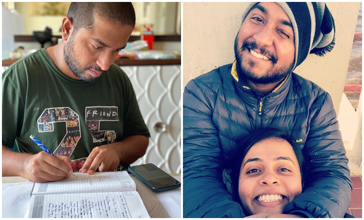 Vineeth Sreenivasan, Vineeth Sreenivasan wife, Vineeth Sreenivasan family photo, Vineeth Sreenivasan lockdown life, indian express malayalam, IE malayalam