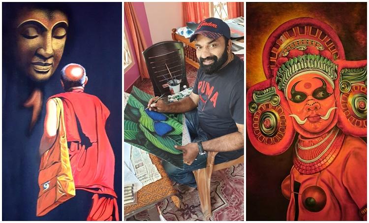 Kottayam Nazeer, കോട്ടയം നസീർ, Kottayam Nazeer photos, Kottayam Nazeer paintings, Indian express malayalam, IE Malayalam