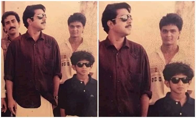 Mammootty, Dulquer Salman, Mammootty Dulquer Salman photos, Dulquer salmaan childhood photo, Mammootty old photo, മമ്മൂട്ടി, ദുൽഖർ സൽമാൻ, Indian express malayalam, IE Malayalam