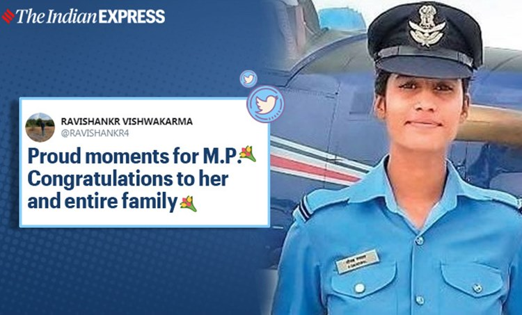 indian Air force, tea seller's daughter Indian Air Force Flying Officer viral news, Shivraj Singh Chouhan, Chief Minister of Madhya Pradesh, trending, indian express, indian express news