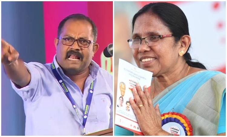 KM Shaji, KK Shilaja KM Shaji criticized the Kerala government and the KKShailaja, iemalayalam