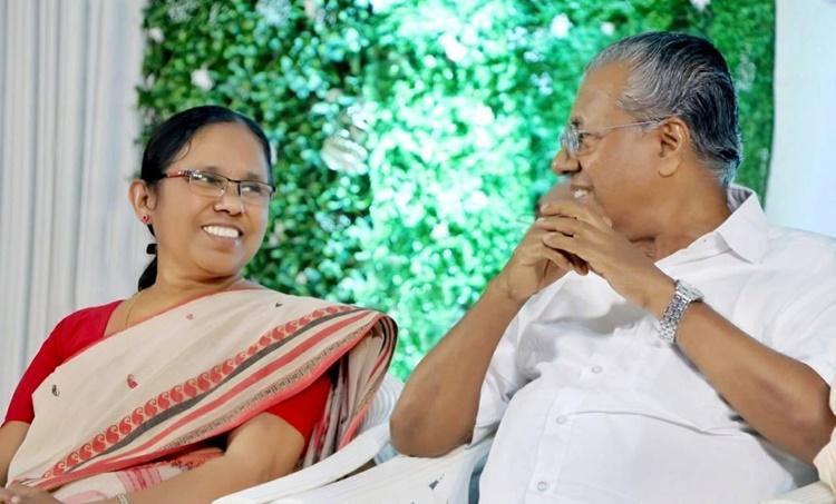 Pinarayi Vijayan and KK Shailaja