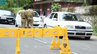 covid lockdown thiruvananthapuram police
