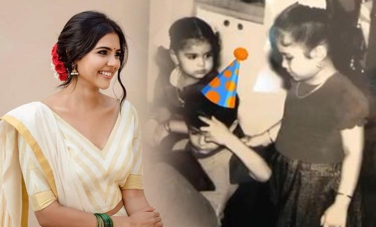 kalyani priyadarshan, kalyani priyadarshan childhood photo, pranav mohanlal childhood photo