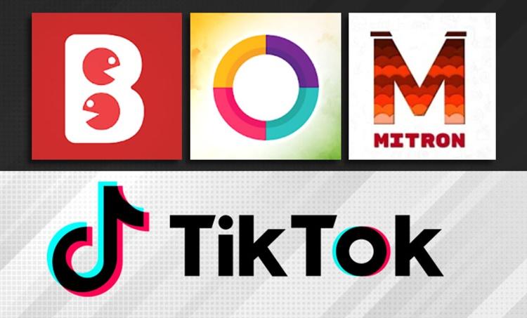 tiktok ban, likee ban, bigo live ban, ടിക്ടോക്, alternative for tiktok, മിട്രോൺ, mitron app, mitron vs tiktok, sharechat, roposo, bolo indya, chinese apps banned, chingari