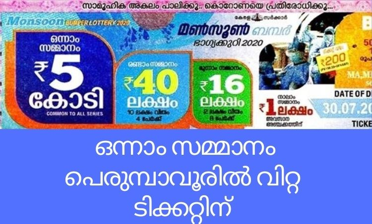 Kerala Monsoon bumper lottery result,Kerala lottery result,Kerala Monsoon bumper lottery result 2020,keralalotteries.com,keralalotteries.com result