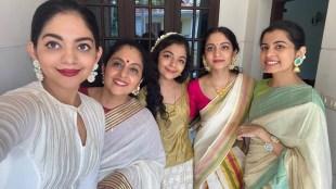 Krishna Kumar, Ahaana Krishna, Ahaana krishna sisters, Krishnakumar family, Ahaana sisters dance, Krishnakumar family tiktok video, onam, onam 2020