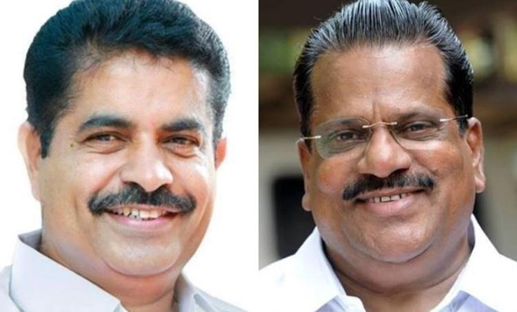 Adoor Prakash and EP Jayarajan