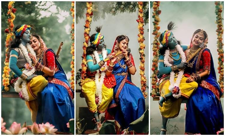 അനുശ്രീ, Anusree photoshoot, ശ്രീകൃഷ്ണ ജയന്തി, Srikrishna Jayanthi, അനുശ്രീ, Anusree, ഭാരതാംബ, IE Malayalam