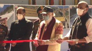 atal tunnel inauguration, prime minister narendra modi, rohtang tunnel launch photos, atal tunnel photos, rajnath singh, himachal pradesh tourism, rohtang pass, india news, indian express, malayalam news, malayalam latest news, ie malayalam