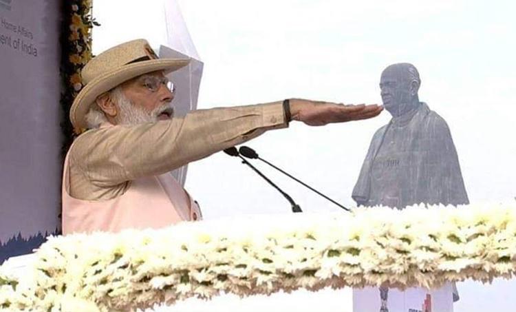Narendra Modi, Pulwama attack, PM Modi on Pulwama, Pak comment on Pulwama attack, Vallabhbhai Patel birth annivarsary, PM Modi in Gujarat, Rashtriya Ekta Diwas, Statue of Unity, India news, Indian express