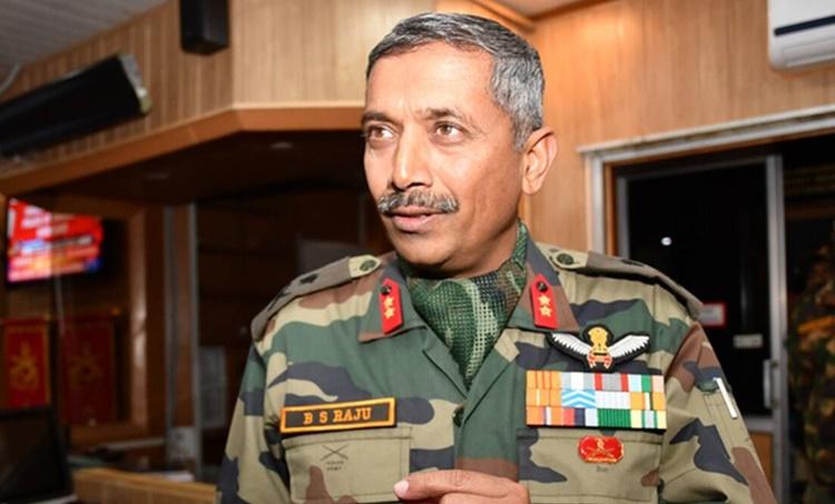 Lieutenant General B S Raju on jammu and kashmir, J&k post special status abrogation, jammu and kashmir militancy, kahmir militancy, pakistan militancy kashmir, pakistan infiltration jammu kashmir, indian express news