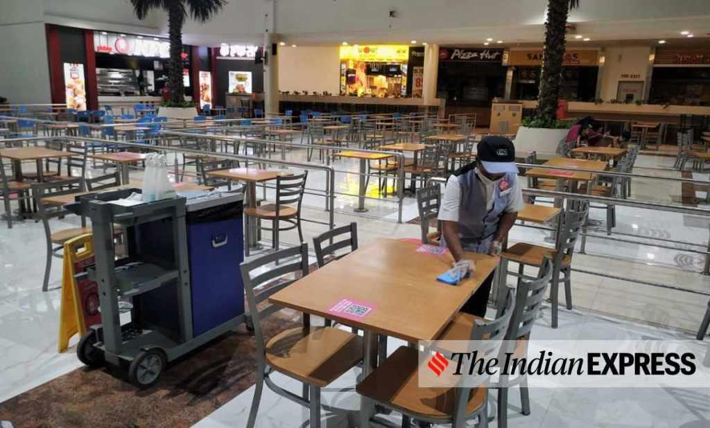 food court, mall, shoping mall, restaurant, unlock, public space, lock down, ie malayalam