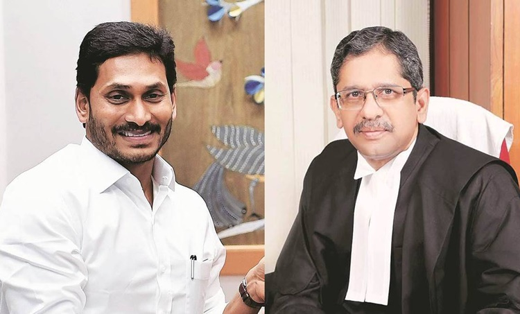 jagan Mohan reddy, andhra pradesh cm, s a bobde, N V Ramana, andhra pradesh high court influence, indian express