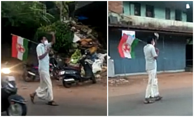 hathras, kerala single man protest, malayalam news, news, വാർത്ത, വീഡിയോ, video, viral video
