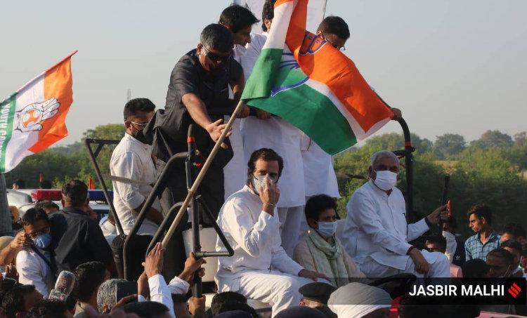 kheti bachao yatra rahul gandhi, rahul gandhi on narendra modi, rahul gandhi on farm laws, rahul gandhi on gst, rahul gandhi on demonetization, rahul gandhi on farmers, rahul gandhi punjab rally, rahul gandhi latest rally, rahul gandhi haryana rally, indian express news, malayalam news, news in malayalam, national news, രാഹുൽ, രാഹുൽ ഗാന്ധി, ie malayalam