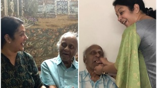 Shanthi krishnas father R Krishnan passed away