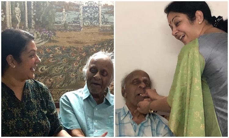 Shanthi krishnas father R Krishnan passed away