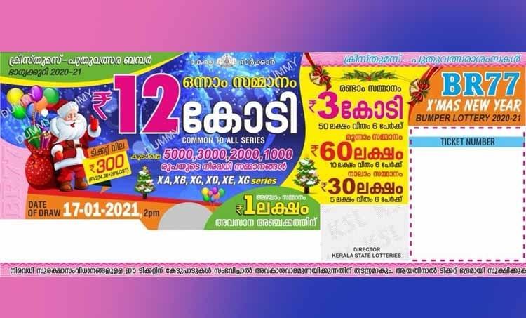 kerala lottery result, Xmas New Year Bumper 2020, Xmas New Year Bumper 2020 price, Kerala Xmas New Year Bumper BR 77 Lottery, Xmas New Year Bumper 2020 results, Xmas New Year Bumper 2020, Xmas New Year Bumper 2020 rate, Xmas Bumper 2020, New Year Bumper 2020, Xmas New Year Bumper 2020 lottery draw date, Xmas New Year Bumper 2020 result, Xmas New Year Bumper lottery result 2020, Kerala Xmas New Year Bumperr 2020, Xmas New Year Bumper 2020 lottery, Xmas New Year Bumper 2020, kerala Xmas New Year Bumper 2020 result, kerala Xmas Bumper 2020, kerala lottery Xmas New Year bumper 2020, kerala lottery results Xmas New Year bumper 2020, Xmas New Year result, ക്രിസ്മസ് ന്യൂ ഇയർ ബമ്പര് ലോട്ടറി, ക്രിസ്മസ് ന്യൂ ഇയർ ബമ്പര് നറുക്കെടുപ്പ്, ക്രിസ്മസ് ന്യൂ ഇയർ ബമ്പര് 2020, ക്രിസ്മസ് ന്യൂ ഇയർ ബമ്പര് 2020 result, ക്രിസ്മസ് ന്യൂ ഇയർ ബമ്പര് result, ക്രിസ്മസ് ന്യൂ ഇയർ ബംപര്