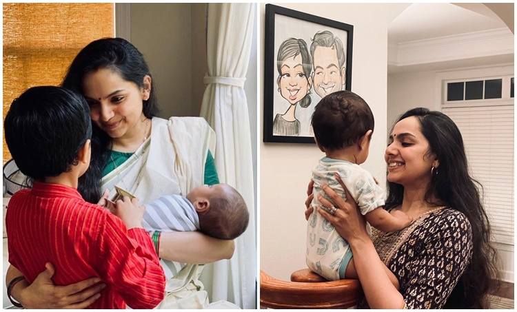 Samvritha Sunil, സംവൃത സുനിൽ, Samvritha and Family, സംവൃതയും കുടുംബവും, Samvritha Family Photo, Samvritha sunil films, IE Malayalam, ഐഇ മലയാളം