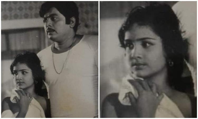 Urvashi , Urvashi childhood photo