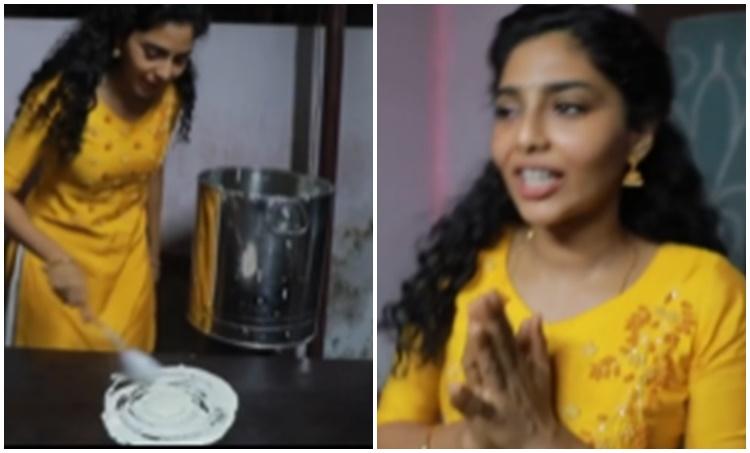 Aishwarya Lekshmi, Aishwarya Lekshmi photos, Aishwarya Lekshmi video, Aishwarya Lekshmi dosa making video, Archana 31 notout, Ramasseri Idli, രാമശ്ശേരി ഇഡ്ഡലി, അർച്ചന 31 നോട്ട്ഔട്ട്, ഐശ്വര്യ ലക്ഷ്മി, IE Malayalam, ഐഇ മലയാളം