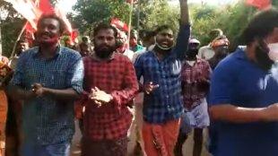 Wayanad Thirunelli slogan viral video, Thirunelli slogan viral video, മുറിയാ കൈയ്യൂ എങ്കേക്കു ബേണ്ട, ബാടിയ താമര തീരേമു ബേണ്ട,എങ്കേക്കു എങ്കാടെ അരിവാളു മതിയേ, ie malayalam