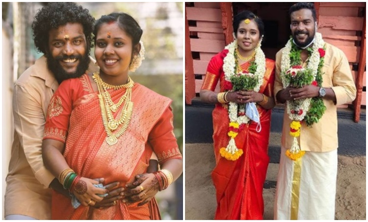 Manikandan Achari, മണികണ്ഠൻ ആചാരി, Manikandan Achari wedding, Manikandan Achari wedding photo, Manikandan marriage photo, Indian express malayalam, മണികണ്ഠൻ വിവാഹം, IE Malayalam