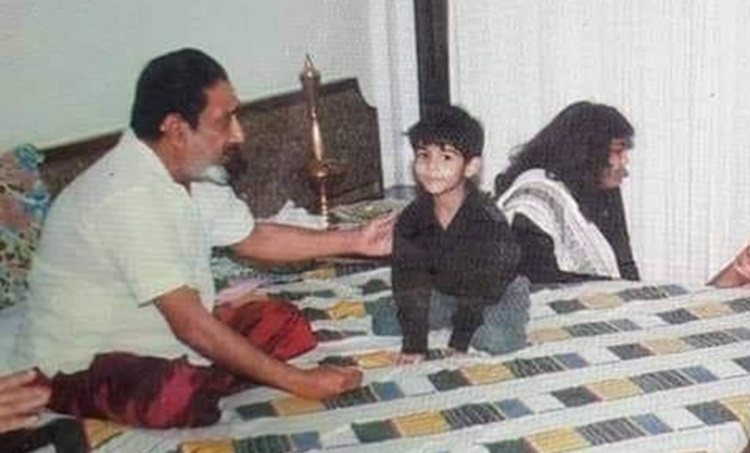 Sivaji Ganesan, Pranav Mohanlal, Pranav Mohanlal, Pranav Mohanlal childhood photo, Pranav Mohanlal films, Pranav Mohanlal Hrudayam, ശിവാജി ഗണേശൻ, പ്രണവ് മോഹൻലാൽ, Indian express malayalam, IE malayalam
