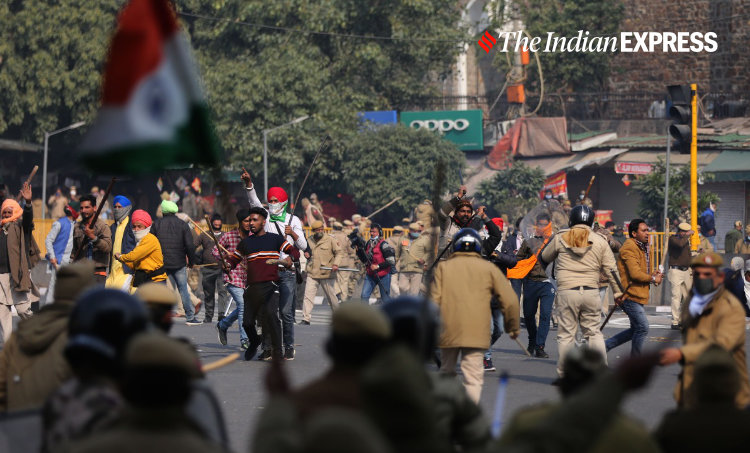 farmers protest, farmers republic day protests, farmers tractor rally, republic day farmers protest, farmers singhu border, farmers tikri border, indian express news
