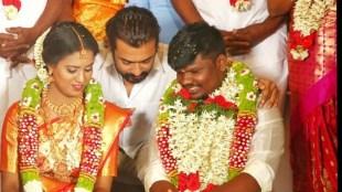 Suriya, Suriya fans, Suriya attends fans wedding, Suriya fan Hari, Suriya fans Hari weddding, സൂര്യ, Indian express malayalam, IE malayalam