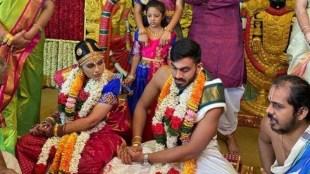 Vijay Shanker, വിജയ് ശങ്കർ, marriage, കല്ല്യണം, Vaishali Visweswaran, വൈശാലി വിശ്വേശരൻ, cricket news, ക്രിക്കറ്റ് വാർത്തകൾ, IE Malayalam, ഐഇ മലയാളം