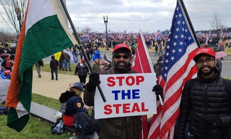 Indian fla, Kochi native,US Capitol protest, vincent xavier, വിൻസന്റ് സേവ്യർ, യുഎസ് വൈറ്റ് ഹൗസ്, ie malayalam